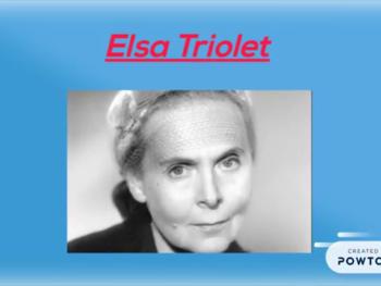 Elsa Triolet et Philibert de l'Orme