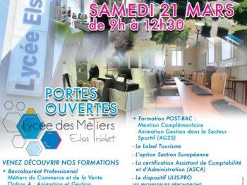 Portes ouvertes samedi 21 mars de 9h à 12h30